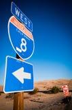 Señal del camino Imagen de archivo libre de regalías