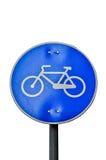 Señal del camino de la bicicleta Fotos de archivo