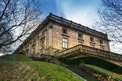 Señal del castillo de Nottingham en East Midlands foto de archivo libre de regalías