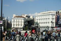 Señal del centro de ciudad de Madrid Foto de archivo