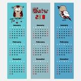 Señal del color del invierno del calendario de la estación del vector Imagen de archivo