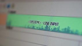 Señal del equalizador de la entrada de línea almacen de metraje de vídeo