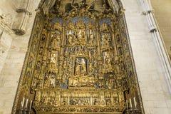 Señal del español de Burgos Cathedral imagen de archivo libre de regalías