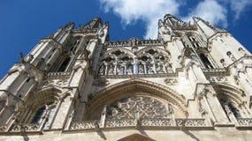 Señal del español de Burgos Cathedral imagenes de archivo