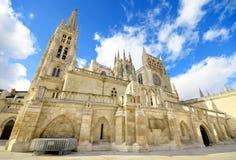 Señal del español de Burgos Cathedral Señal española famosa Imagen de archivo libre de regalías