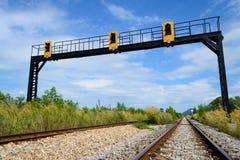 Señal del ferrocarril Foto de archivo