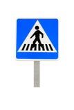 Señal del paso de peatones Fotografía de archivo libre de regalías