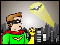 Señal del super héroe Foto de archivo libre de regalías