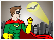 Señal del super héroe Fotos de archivo
