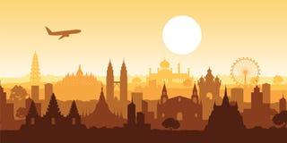 Señal famosa de Asia sudoriental ilustración del vector