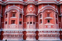 Señal famosa de Rajasthán - palacio de Hawa Mahal Imagen de archivo