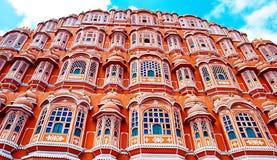 Señal famosa de Rajasthán - palacio de Hawa Mahal, Jaipur, Rajasthán Fotos de archivo