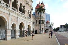 Señal famosa de Sultan Abdul Samad Building en Kuala Lumpur Fotos de archivo