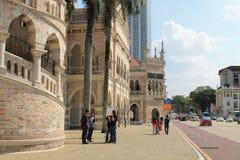 Señal famosa de Sultan Abdul Samad Building en Kuala Lumpur Fotografía de archivo libre de regalías