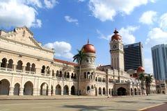 Señal famosa de Sultan Abdul Samad Building en Kuala Lumpur Foto de archivo