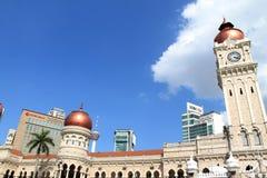 Señal famosa de Sultan Abdul Samad Building en Kuala Lumpur Foto de archivo libre de regalías