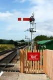 Señal ferroviaria fotografía de archivo