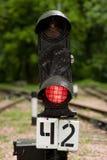 Señal ferroviaria imágenes de archivo libres de regalías
