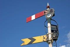 Señal ferroviaria, País de Gales Fotos de archivo