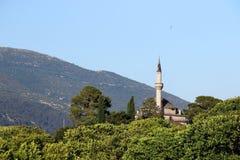 Señal Grecia de la mezquita de Ioannina Fotos de archivo