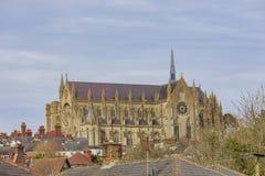 Señal histórica alrededor del castillo de Arundel Imagenes de archivo