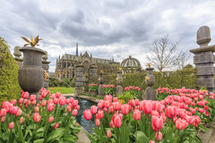 Señal histórica alrededor del castillo de Arundel fotografía de archivo libre de regalías