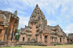 Señal histórica del parque de Phanomrung de Buriram, Tailandia imagen de archivo libre de regalías