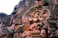 Señal histórica del parque de Phanomrung de Buriram, Tailandia Fotografía de archivo