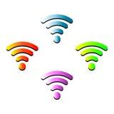 Señal inalámbrica de Internet de los apuroses del wifi del vector Imágenes de archivo libres de regalías