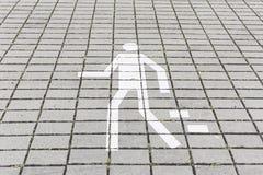 Señal peatonal del paseo Fotos de archivo