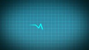 Señal real del corazón del pulso del electrocardiograma del ECG ilustración del vector
