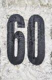 Señal sesenta Fotografía de archivo