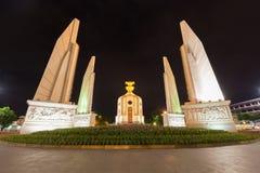 Señal Tailandia de Bangkok del monumento de la democracia Foto de archivo