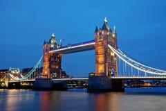Señal Towerbridge de Londres Fotos de archivo