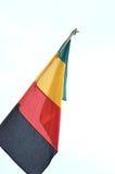Señala banderas por medio de una bandera Imagen de archivo