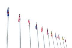 Señala la colección por medio de una bandera Imagen de archivo libre de regalías
