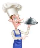 Señalar al cocinero de la campana de cristal Fotografía de archivo