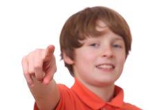 Señalar al muchacho Fotografía de archivo libre de regalías