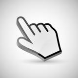 Señalar el cursor de la mano Foto de archivo libre de regalías