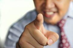 Señalar el finger Imagen de archivo