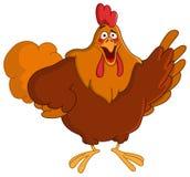 Señalar el gallo Foto de archivo