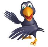 señalar el personaje de dibujos animados del cuervo Foto de archivo