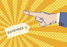 Señalar vector del arte pop del dedo Imagenes de archivo
