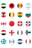 Señale el conjunto del icono por medio de una bandera Fotografía de archivo