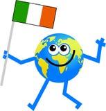 Señale el globo por medio de una bandera libre illustration