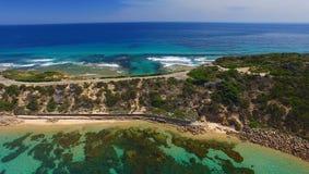 Señale el parque de Nepean, opinión aérea de Victoria - de Australia imagen de archivo libre de regalías