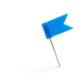 Señale un azul del contacto por medio de una bandera Fotografía de archivo libre de regalías