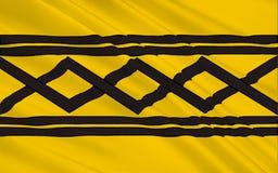 Señale West Midlands por medio de una bandera, Inglaterra Stock de ilustración