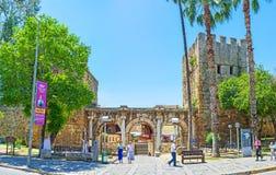 Señales antiguas de Antalya Fotografía de archivo