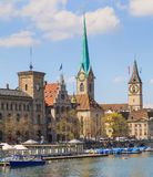 Señales arquitectónicas de la ciudad de Zurich, Suiza Fotos de archivo